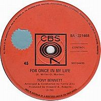Cover Tony Bennett - For Once In My Life
