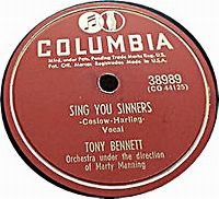Cover Tony Bennett - Sing You Sinners