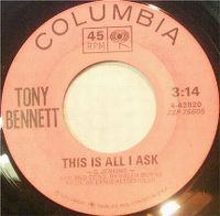 Cover Tony Bennett - This Is All I Ask