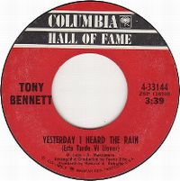 Cover Tony Bennett - Yesterday I Heard The Rain (Esta tarde vi llover)