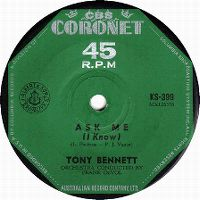 Cover Tony Bennett with Frank De Vol And His Orchestra - Ask Me (I Know)