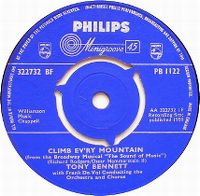 Cover Tony Bennett with Frank De Vol And His Orchestra - Climb Ev'ry Mountain