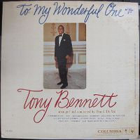 Cover Tony Bennett with Frank De Vol And His Orchestra - To My Wonderful One