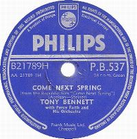 Cover Tony Bennett with Percy Faith And His Orchestra - Come Next Spring