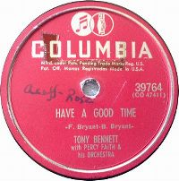 Cover Tony Bennett with Percy Faith And His Orchestra - Have A Good Time
