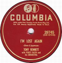 Cover Tony Bennett with Percy Faith And His Orchestra - I'm Lost Again