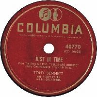 Cover Tony Bennett with Percy Faith And His Orchestra - Just In Time