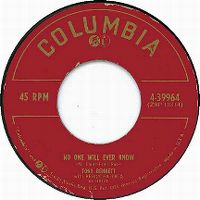 Cover Tony Bennett with Percy Faith And His Orchestra - No One Will Ever Know