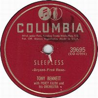 Cover Tony Bennett with Percy Faith And His Orchestra - Sleepless