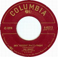 Cover Tony Bennett with Percy Faith And His Orchestra - Until Yesterday