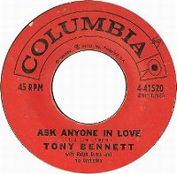 Cover Tony Bennett with Ralph Burns And His Orchestra - Ask Anyone In Love