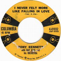 Cover Tony Bennett with Ray Ellis And His Orchestra - I Never Felt More Like Falling In Love