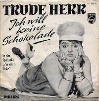 Cover Trude Herr - Ich will keine Schokolade