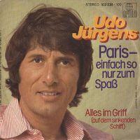 Cover Udo Jürgens - Paris - einfach so nur zum Spaß