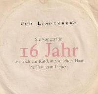 Cover Udo Lindenberg - 16 Jahr