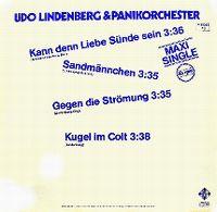 Cover Udo Lindenberg & Panik Orchester - Kann denn Liebe Sünde sein