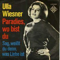 Cover Ulla Wiesner - Paradies, wo bist du