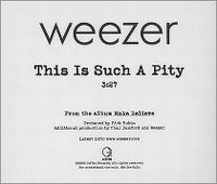 Cover Weezer - This Is Such A Pity