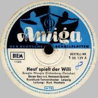 Cover Werner Hass und das Hemmann-Quintett / Kurt Henkels und das Rundfunk-Tanzorchester Leipzig - Heut' spielt der Willi