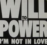 Cover Will To Power - I'm Not In Love