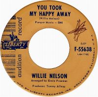 Cover Willie Nelson - You Took My Happy Away
