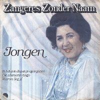 Cover Zangeres Zonder Naam - Jongen
