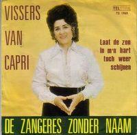 Cover Zangeres Zonder Naam - Vissers van Capri