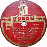 Cover Zarah Leander - Nur nicht aus Liebe weinen